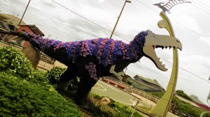 二川駅の恐竜
