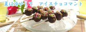 団子とチョコレートのチョコマント